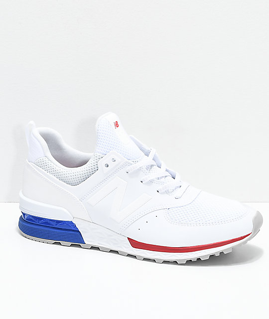all white new balance