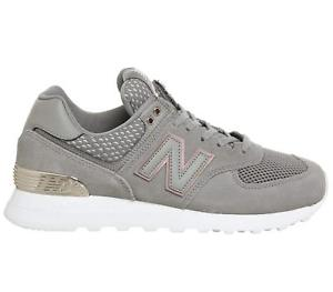 grey and rose gold new balance trainers